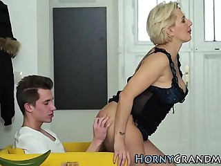 Tatted granny pounded