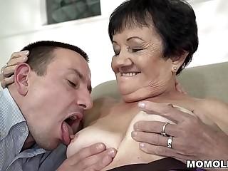 Granny pussy ravaged deep