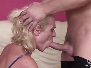 Young Boy Seduce 63yr old Grandma to Fuck