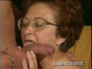 70yo Grandmother fucked junior Man