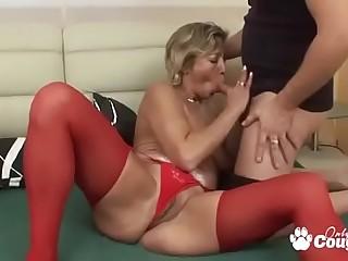 Granny Fucks In Gstring &amp_ Stockings