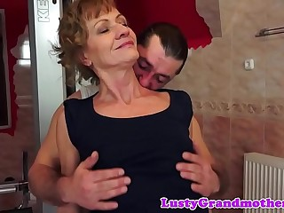 Alluring gilf assfucked from behind