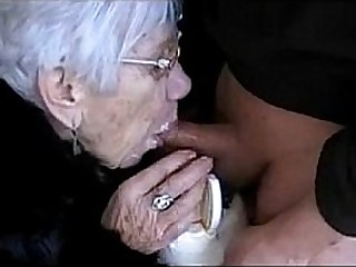 Granny Deepthroats Gawp Cock for Her Birthday - More at cuntcams.net