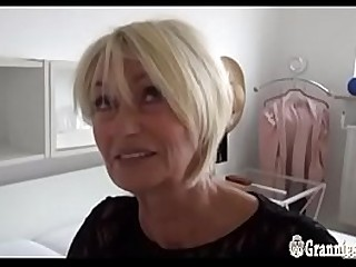 Gorgeous German Granny Franziska Striptease And Masturbation