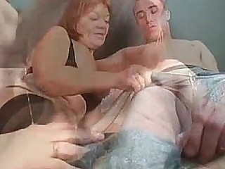 Redhead granny is not too old for nailing