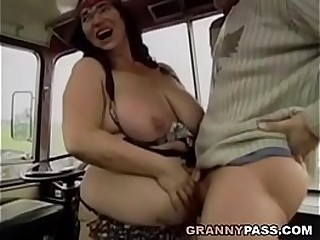 Plumper Granny Gets Fucked On The Bus