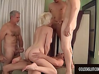 Granny Dalny Marga Five Man Group sex