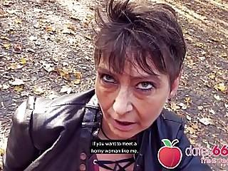 Needy OLD Mummy - almost GILF - got PUBLIC park bang in Berlin, Germany (strangers are around) - Horny slut RUBINA found at dates66.com