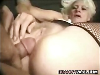 Barbie Face Granny Does Anal With Thick Cock