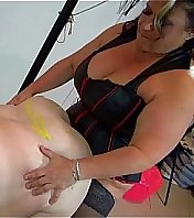 OldNanny Very round granny and Fat mature pounded with strapon, BDSM scene