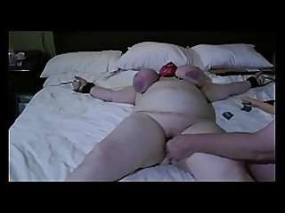 Granny roped beat and use of a fake penis