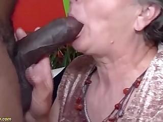 hairy granny brutal big dark-hued cock screwed