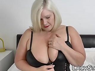 UK granny with huge titties sucks dick