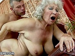 Granny getting it good