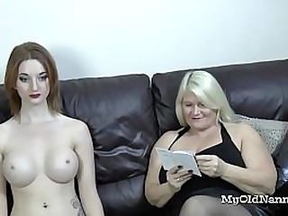 naughty granny received a busty sex doll