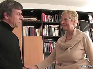 Bbvideo.com Brief haired German granny fucks