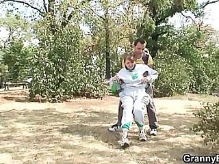 Stranger heals old granny