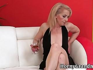 Hairy vagina granny jizzed