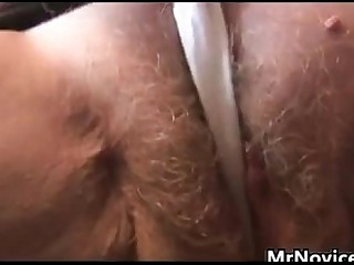 Hairy Granny Plays With Her Tits And Vagina