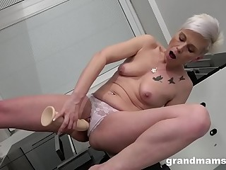 Granny's Such a Dildo Whore