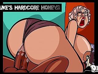 Thick Ass Granny Fucked by Big Ebony Cock!