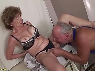 extreme horny big boob deepthroat loving granny enjoys rough anal with her crazy stepson