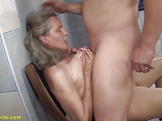 harassment big-titted 83 years old mom tit fucked