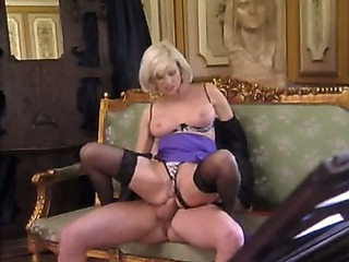 Posh Pierced Granny in Stockings Pounds