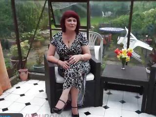 Mystery aged Christina masturbation