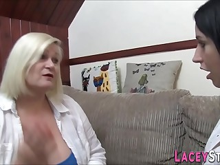 Brit gran and round lesbian sixtynine