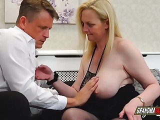 a desperate granny with huge tits