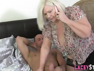 Busty gran in blossom gets pussy banged