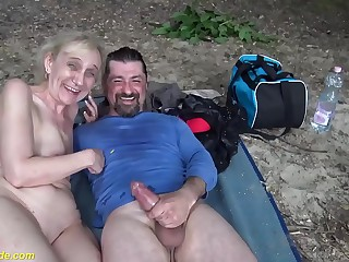 brutal outdoor lovemaking for 85 years old mom