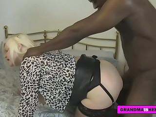 horny granny fucks his patient with a big black cock