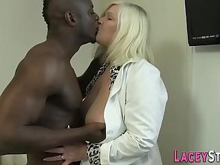 Granny enjoys anal with a big dark-hued cock