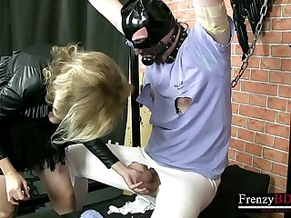 FrenzyBDSM Cock and Testicles Vaxing and Bondage