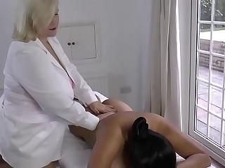 LACEYSTARR  Lesbian Rubdown with Amyka Lee
