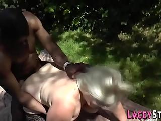British granny outdoors
