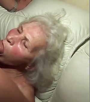 superb 75 years old grandma first pornography flick
