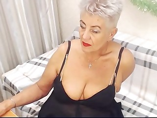 Old woman webcam show