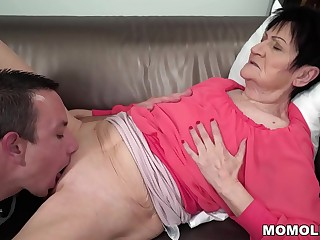 Horny GILF Anastasia Big-boobed and Punished by Energetic Young Stud